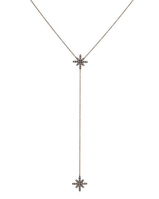 Diane Kordas | Metallic Starburst 18kt Rose Gold Necklace With White Diamonds | Lyst