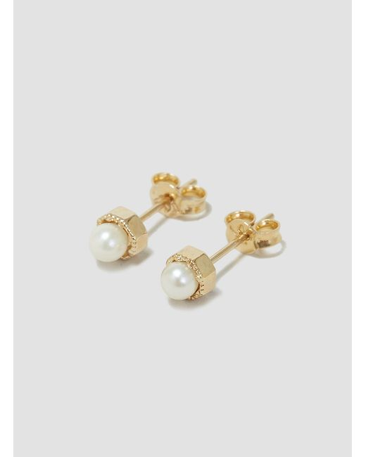 Grace Lee | Metallic Pearl Arc Earring Backs | Lyst