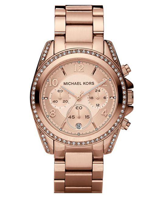 MICHAEL Michael Kors | Metallic Michael Kors 'blair' Chronograph Watch | Lyst