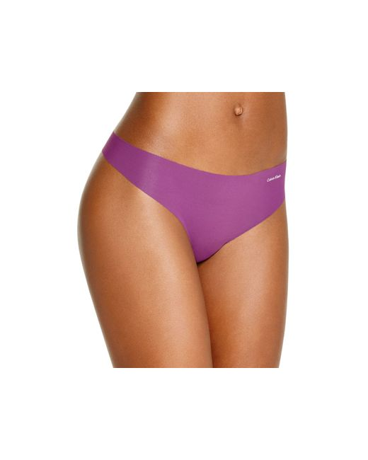 Calvin Klein | Purple Invisibles Thong #d3428 | Lyst