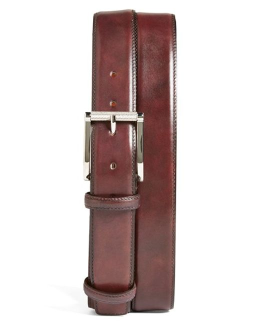 Santoni | Purple Leather Belt for Men | Lyst
