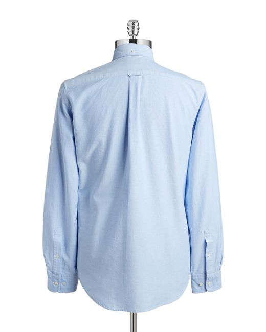 Gant Rugger | Blue Fitted Oxford Sportshirt for Men | Lyst