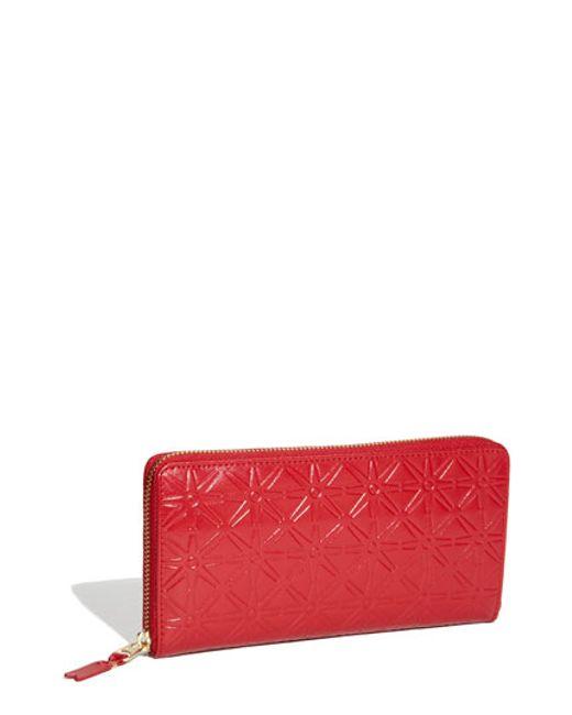 Comme des Garçons | Red Continental Long Wallet | Lyst