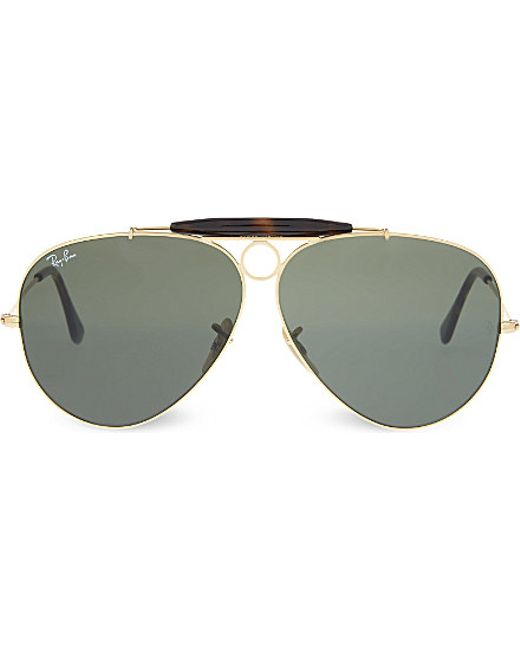 Ray-ban Rb3138 Gold-toned Frame Aviator Sunglasses in Gray ...
