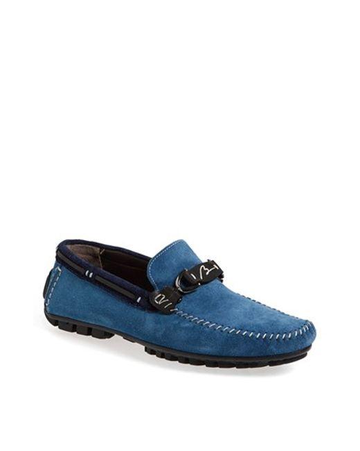 Bacco Bucci | Blue 'flavio' Driving Shoe for Men | Lyst