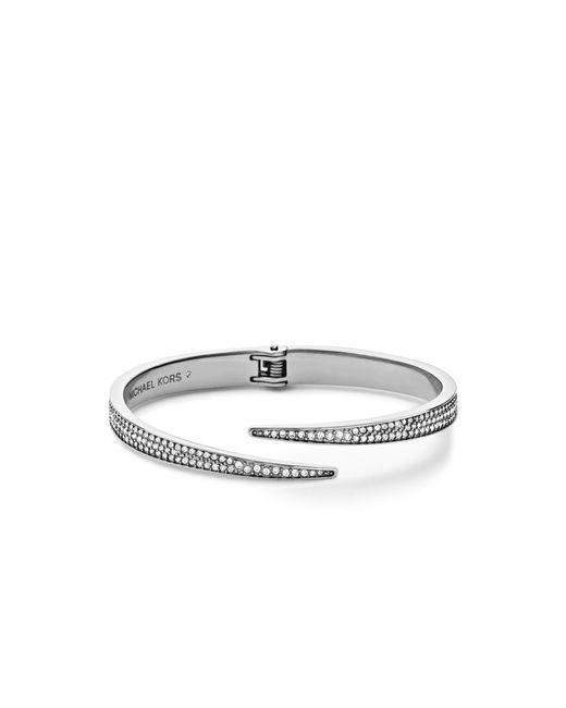 Michael Kors | Metallic Matchstick Pavé Silver-tone Cuff | Lyst