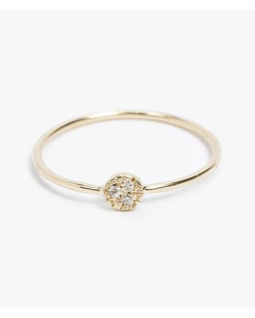 Mociun | Metallic Single Side Diamond Circle Ring | Lyst