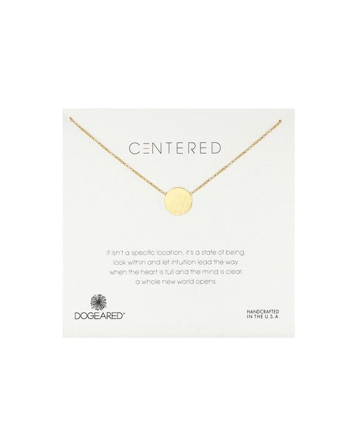 Dogeared   Metallic Centered Large Circle Soldered Necklace   Lyst