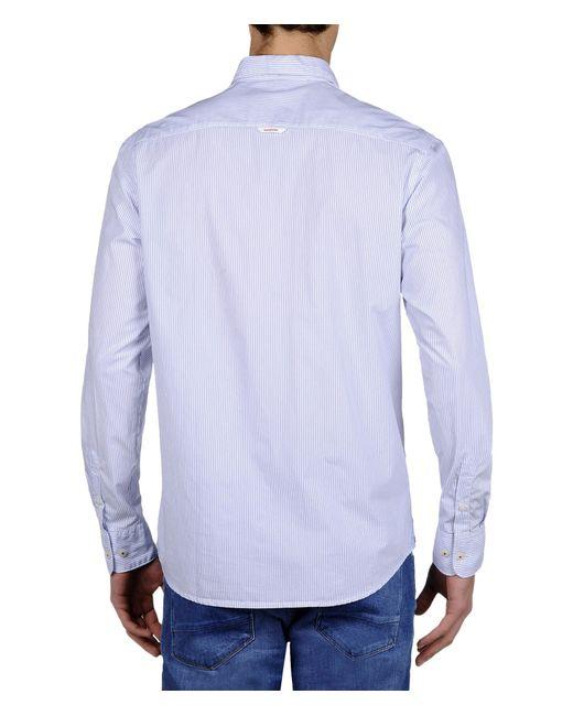 Napapijri | White Long Sleeve Shirt for Men | Lyst
