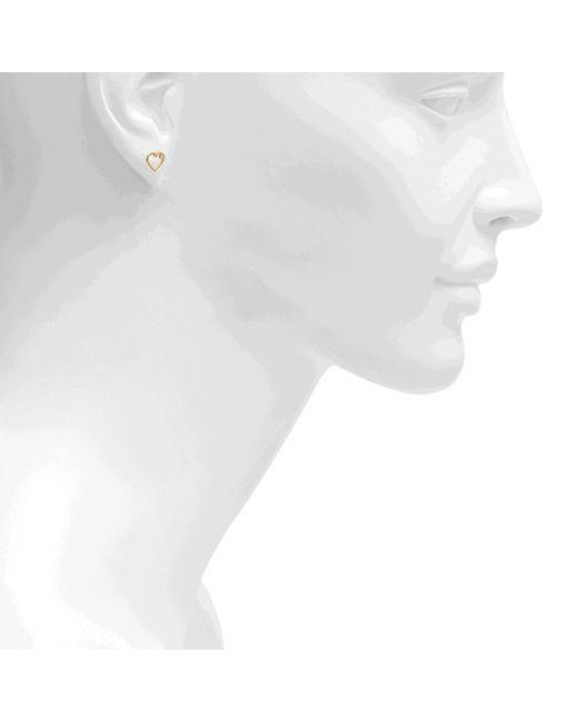 Aurelie Bidermann | Metallic Fine Jewellery - 18k Love Single Earring With Diamond | Lyst