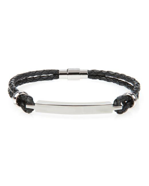 Ted Baker | Black Bar Detail Leather Bracelet for Men | Lyst