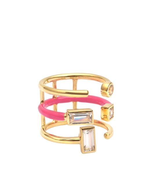 Elizabeth and James | Metallic Sol Enamel Ring | Lyst