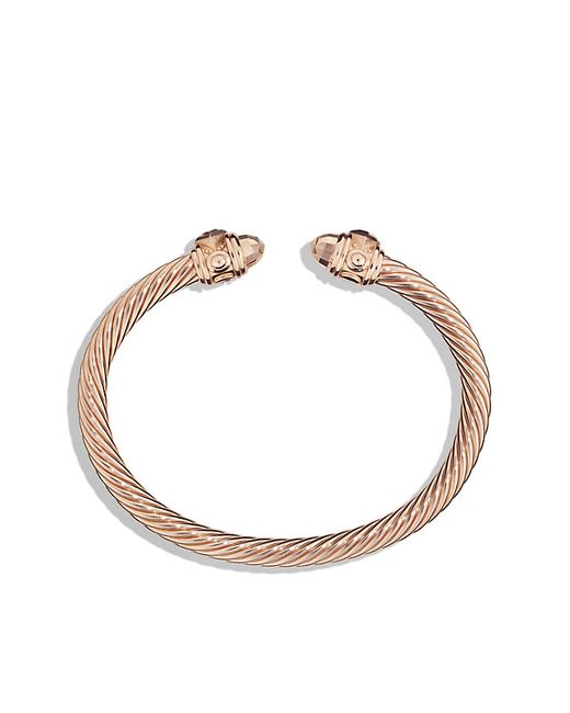 David Yurman | Metallic Renaissance Bracelet In 18k Rose Gold, 5mm | Lyst