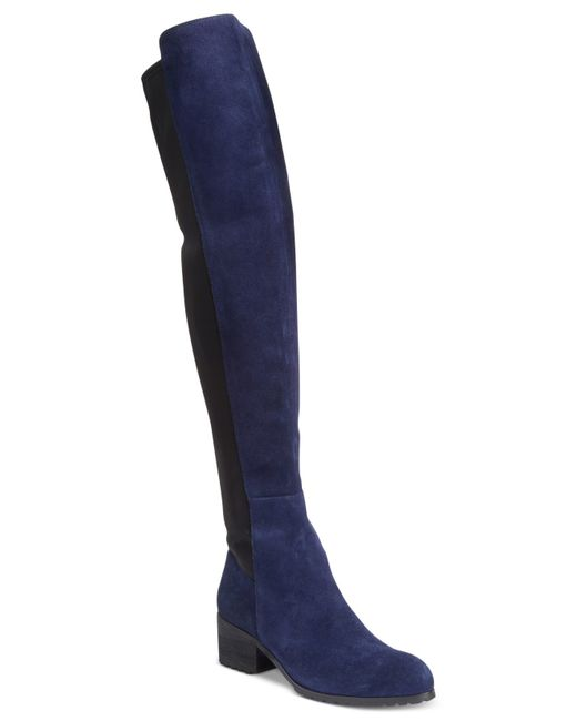 charles by charles david the knee boots in blue