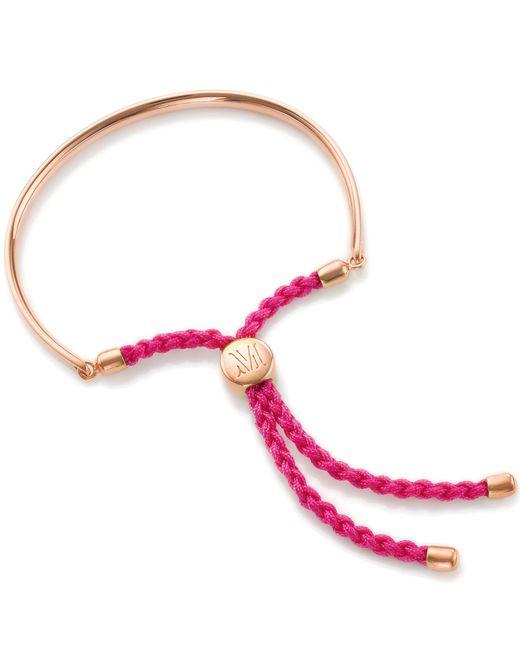 Monica Vinader   Pink Gp Fiji Friendship Bracelet   Lyst