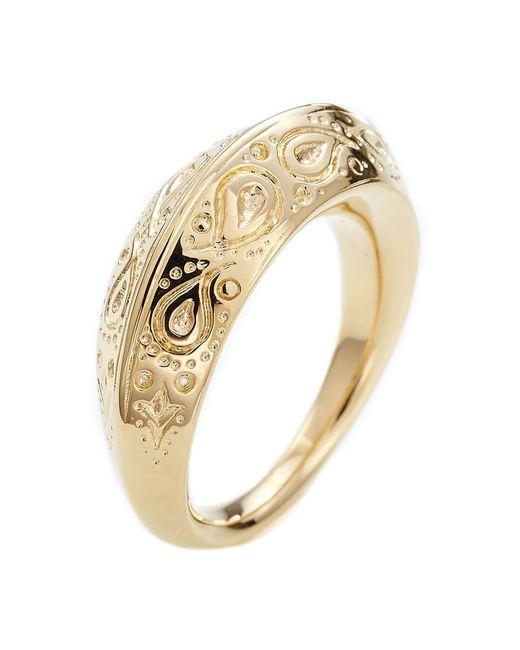 Aurelie Bidermann | Metallic Aurélie Bidermann Apache Embossed Ring - Gold | Lyst