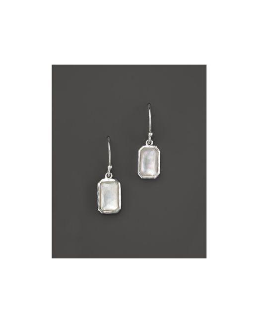 Ippolita | Metallic Sterling Silver Wonderland Rectangular Drop Earrings In Mother-of-pearl | Lyst