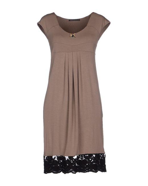 GAUDI   Natural Short Dress   Lyst