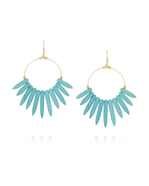 Kenneth Jay Lane | Blue Gold-plated Resin Earrings | Lyst