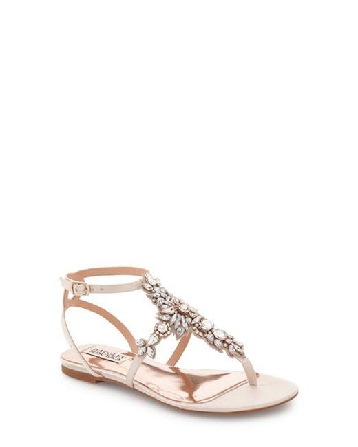 Bridal Shoes At Nordstrom: Badgley Mischka 'cara' Crystal Embellished Flat Sandal In