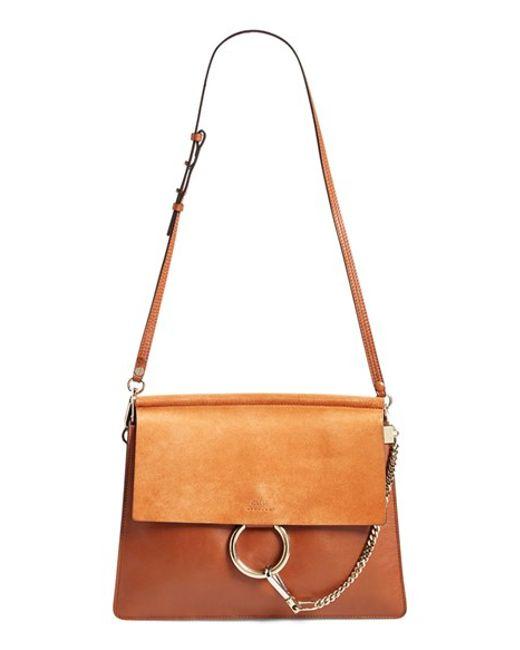 Chlo¨¦ \u0026#39;medium Faye\u0026#39; Shoulder Bag in Brown (CLASSIC TOBACCO) | Lyst