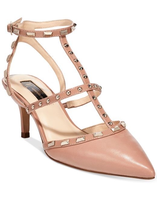 INC International Concepts | Pink Carma Pointed Toe Studded Kitten Heel Pumps, Only At Macy's | Lyst