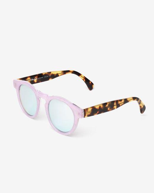 Illesteva   Brown Leonard Eco Glitter/leopard Frame Mirrored Lenses Sunglasses   Lyst