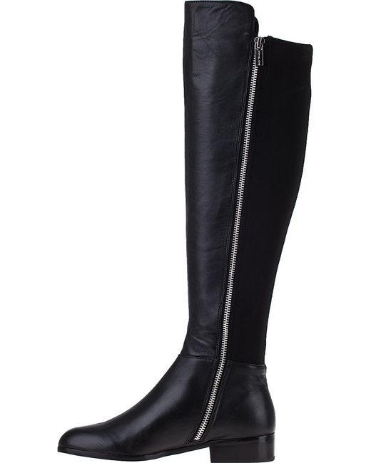 Michael Michael Kors Bromley Flat Tall Boot Black Leather
