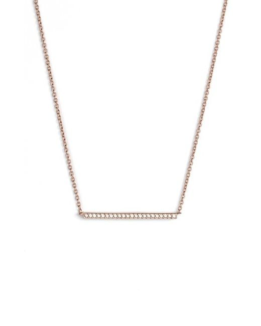 Nadri | Metallic Bar Pendant Necklace | Lyst