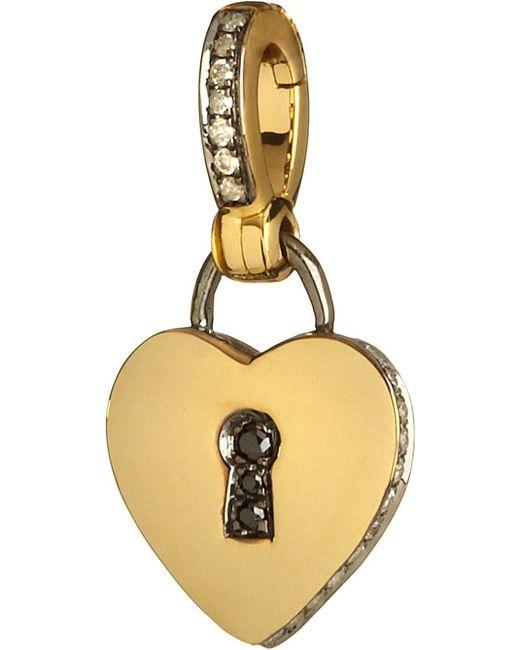 Annoushka | Mythology 18ct Yellow Gold And Diamond Love Charm | Lyst