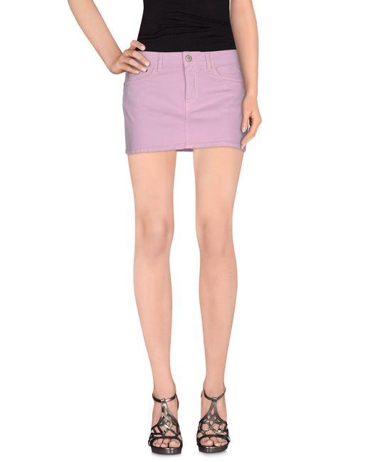 dondup denim skirt in pink lyst