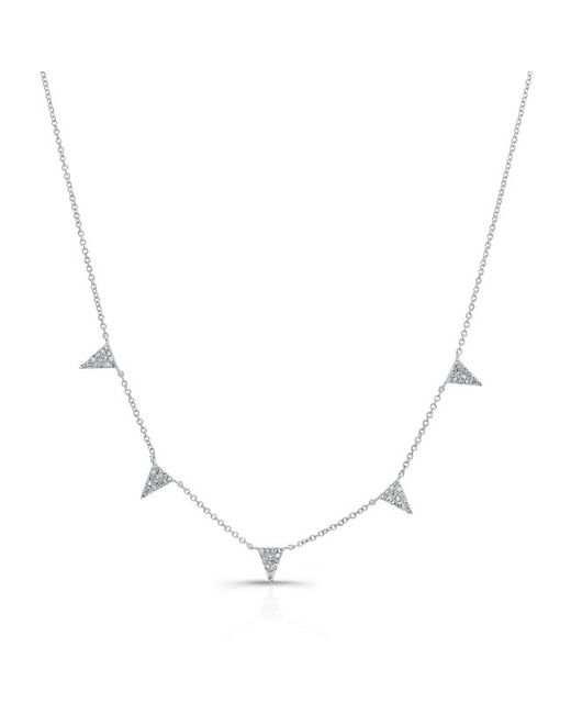 Anne Sisteron | Metallic 14kt White Gold Diamond Icicle Necklace | Lyst