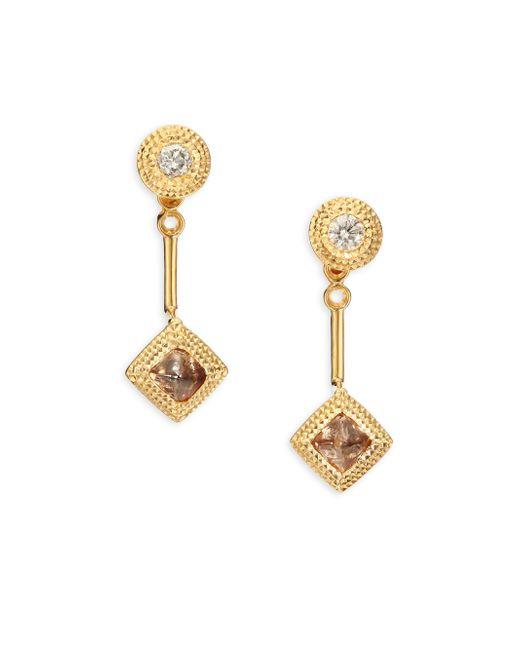 De Beers | Metallic Talisman Essence Diamond & 18k Yellow Gold Drop Earrings | Lyst