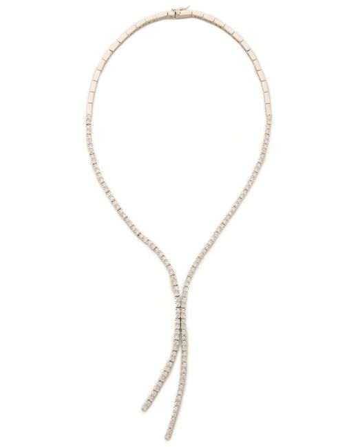 Kenneth Jay Lane | White Round Cz Lariat Necklace | Lyst