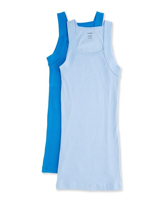 2xist Blue Square-cut Two-pack Tanks