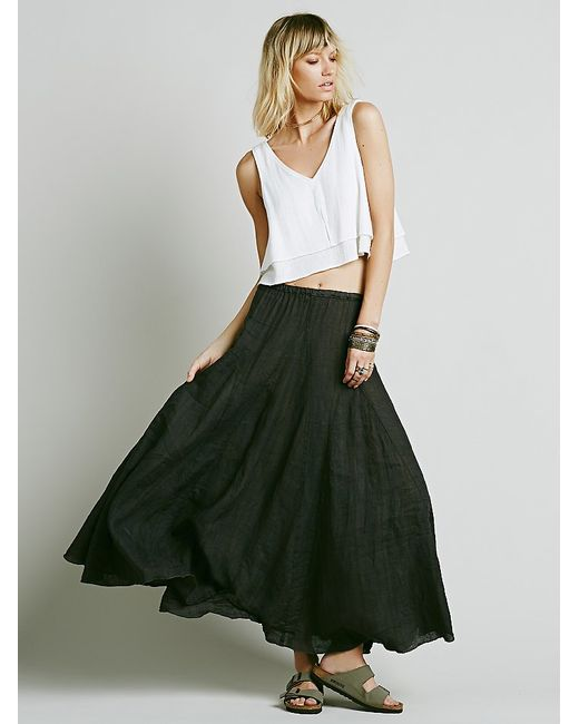 Free People | Gray Latter To Love Skirt | Lyst