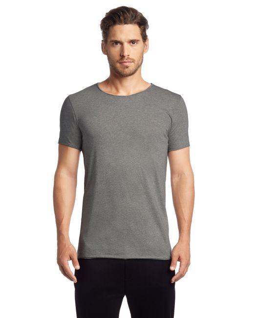 HUGO | Gray Loose-fit T-shirt In Cotton: 'depus' for Men | Lyst