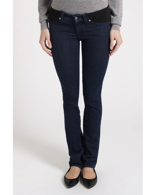 7 for all mankind roxanne straight leg maternity jeans in. Black Bedroom Furniture Sets. Home Design Ideas