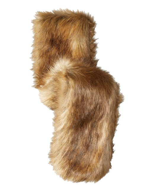 Hat Attack | Natural Faux Fur Long Collar | Lyst