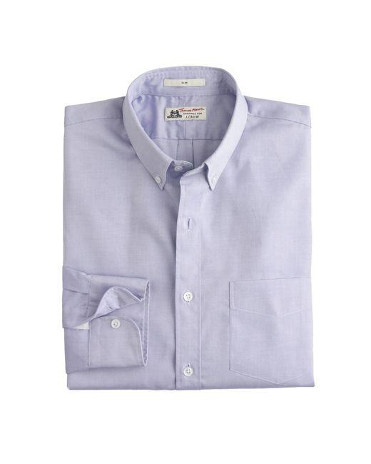 Thomas Mason | White Slim Shirt In Pinpoint Oxford Cloth for Men | Lyst