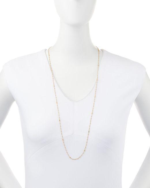 Mizuki | Metallic 14k Gold-beaded Station Necklace | Lyst