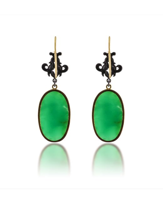 Arman Sarkisyan | Green Oval Victorian Earrings | Lyst