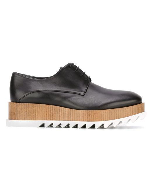 jil sander platform leather lace up shoes in black lyst