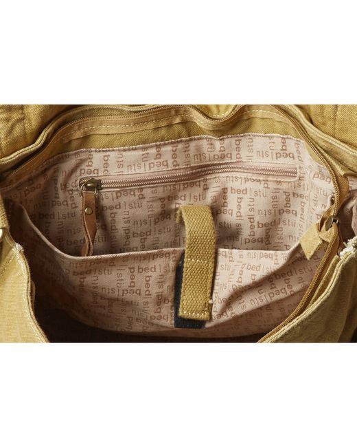 bed stu hawkeye messenger bag in brown for men tan lyst. Black Bedroom Furniture Sets. Home Design Ideas