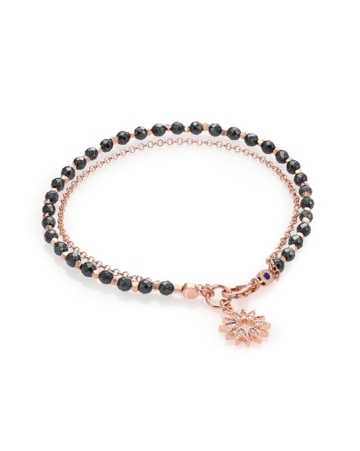 Astley Clarke | Pink Biography Hematite & White Sapphire Sun Beaded Friendship Bracelet | Lyst