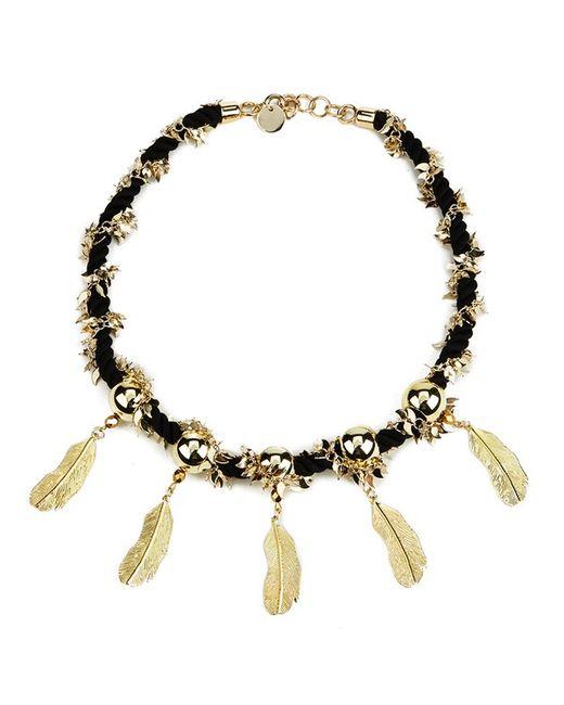 Matthew Williamson | Metallic Women's Rope Feather Necklace | Lyst