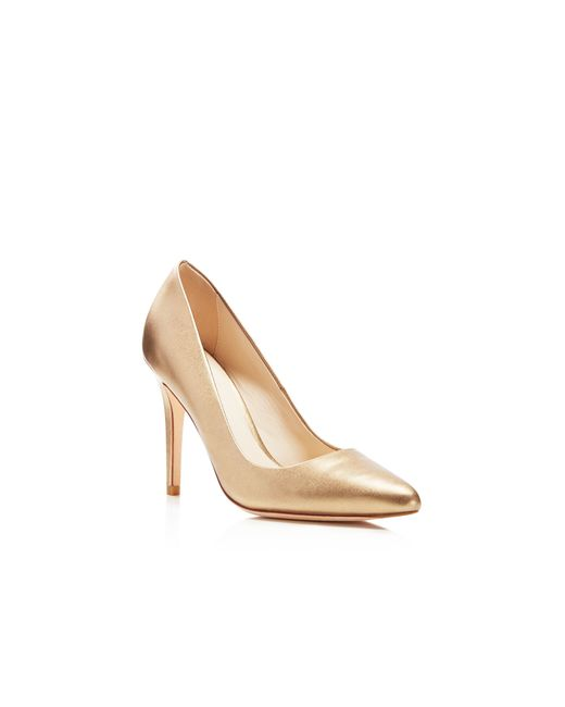 Cole Haan | Emery Metallic Pointed Toe Pumps | Lyst