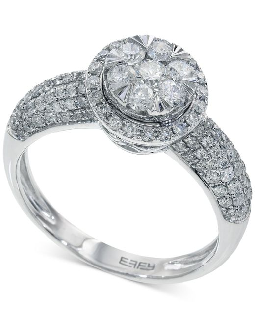 Macy s Bouquet By Effy Diamond Halo Engagement Ring In 14k White Gold 1