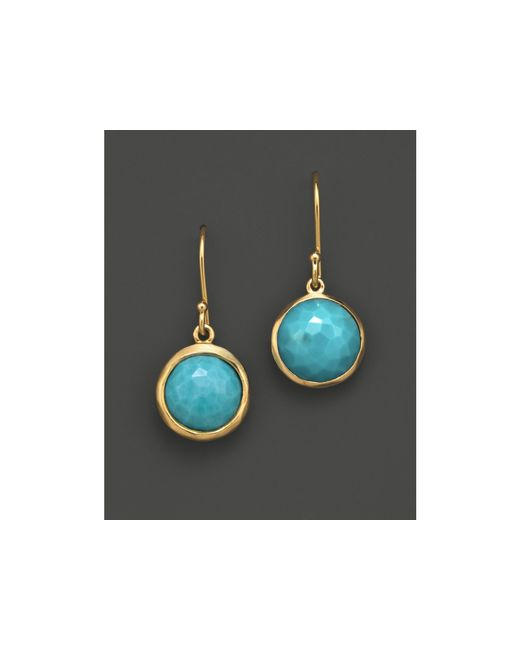 Ippolita | Metallic 18k Gold Lollipop Earrings In Turquoise | Lyst