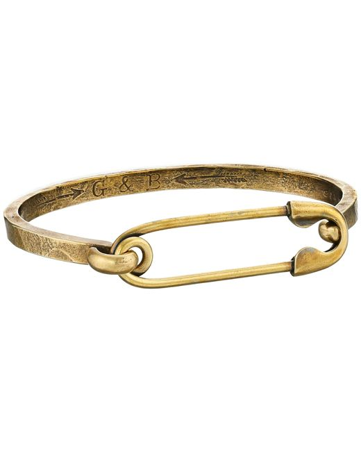 Giles & Brother | Metallic Safety Pin I.d. Hinge Cuff Bracelet | Lyst